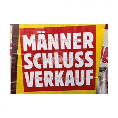 """Postkarte """"Männerschlussverkauf [Bürobedarf & Schreibwar..."""